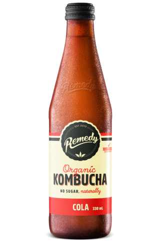 12 x Remedy Kombucha - Cola - 330ml Bottles