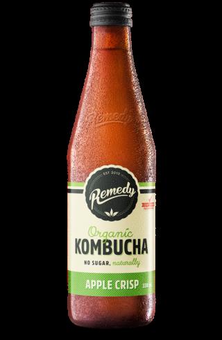 Remedy Kombucha - Apple Crisp 330ml Bottle