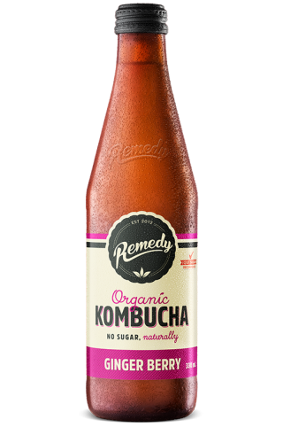 Remedy Kombucha Ginger Berry 330ml Glass Bottles