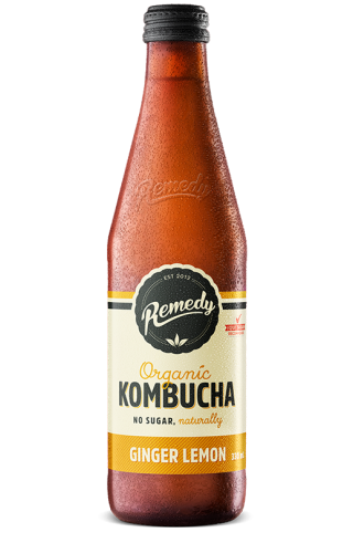 Remedy Kombucha - Ginger Lemon 330ml Bottle