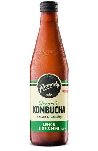Remedy Kombucha Lemon Lime & Mint 330ml Glass Bottle