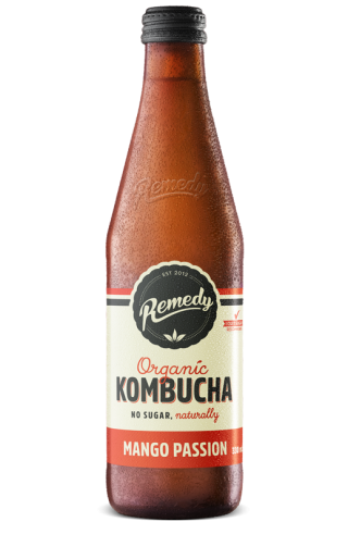 12 x Remedy Kombucha - Mango Passion - 330ml Bottles