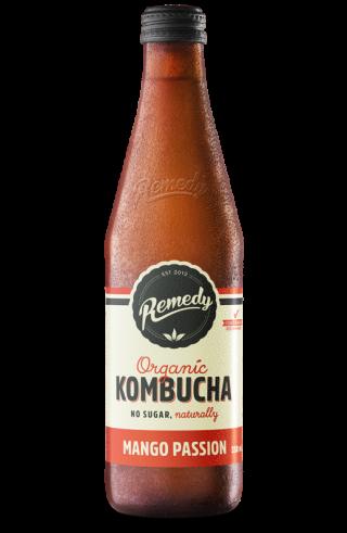 12 x Remedy Kombucha - Mango Passion - 330ml Bottles