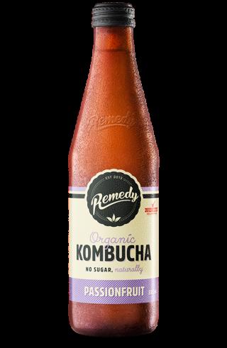 Remedy Kombucha Passionfruit 330ml Glass Bottle