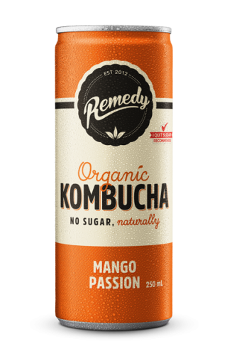 24 x Remedy Kombucha - Mango Passion - 250ml Cans