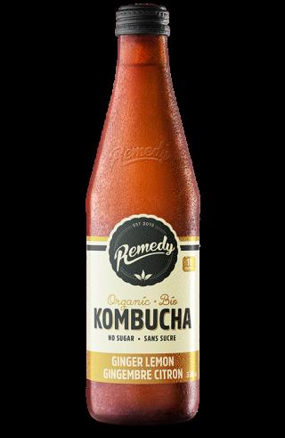Remedy Kombucha - Ginger Lemon 330ml Bottle - French Canadian