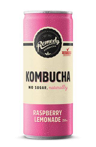 Remedy Kombucha -Raspberry Lemonade Can