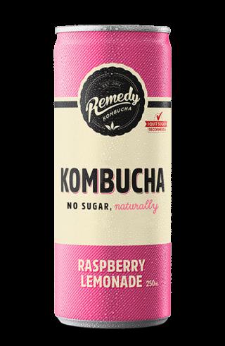 Remedy Kombucha -Raspberry Lemonade Can