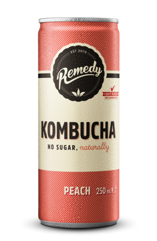 Remedy Kombucha Peach 250ml Cans