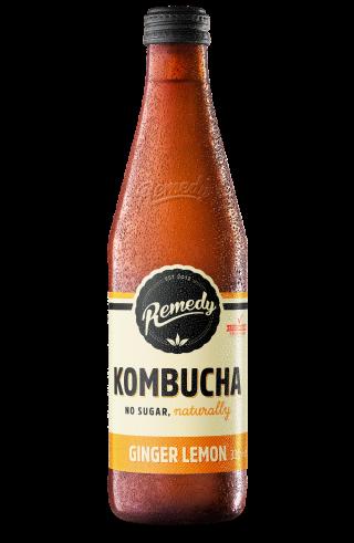 Remedy Kombucha - Ginger Lemon 330ml Bottle