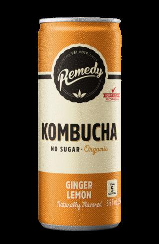 Remedy Kombucha Ginger Lemon - 12-Pack (8.5 Oz)