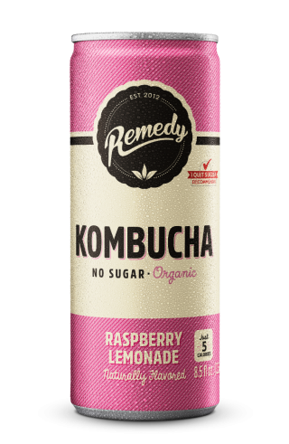 Remedy Kombucha Raspberry Lemonade - 12-Pack (8.5 Oz)