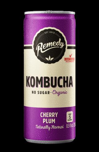 Remedy Kombucha Cherry Plum - 12-Pack (8.5 Oz)
