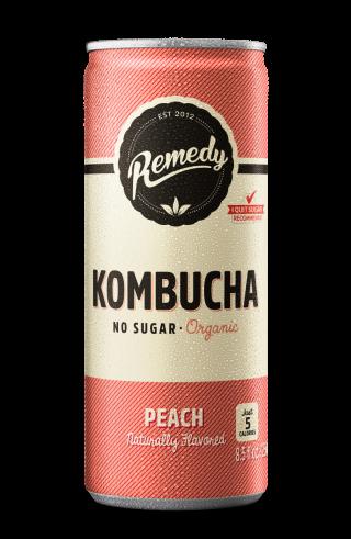 Remedy Kombucha Peach - 12-Pack (8.5 Oz)
