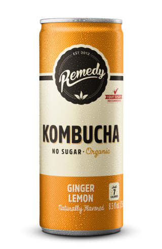 24 x Remedy Kombucha - Ginger Lemon - 8.5 Fl Oz Cans