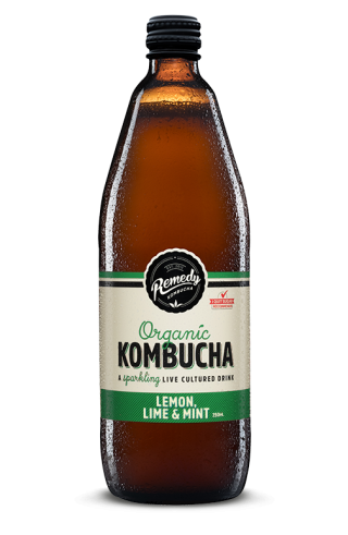 Remedy Kombucha - Lemon, Lime & Mint 750ml Bottle