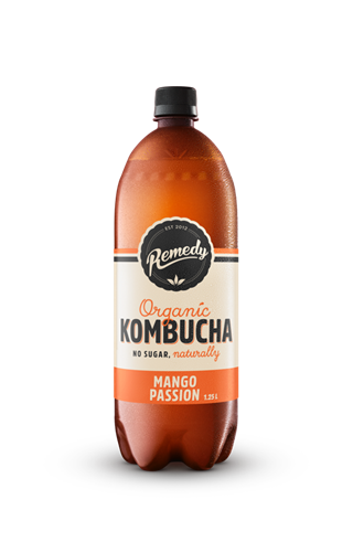 6 x Remedy Kombucha - Mango Passion - 1.25L Bottles