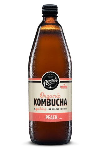 Remedy Kombucha - Peach 750ml Bottle