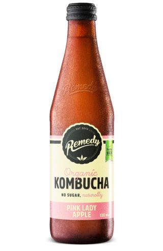 12 x Remedy Kombucha - Pink Lady - 330ml Bottles