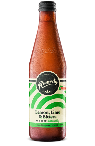 Remedy Soda - Lemon Lime Bitters - 330ml Glass Bottle