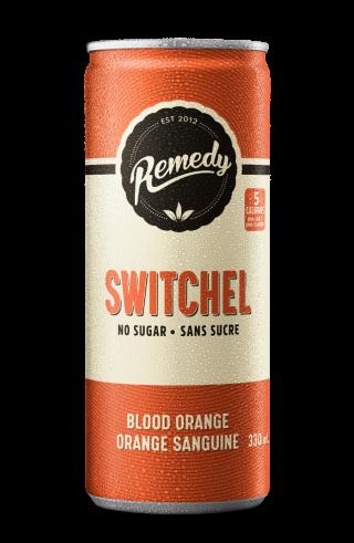 24 x Remedy Switchel - Blood Orange - 330ml Cans