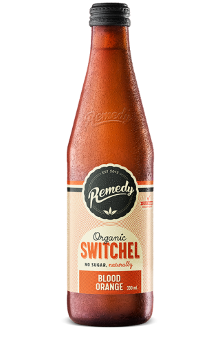 Remedy Switchel - Blood Orange 330ml Glass Bottles