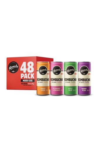 48 x Remedy Kombucha - Mixed Case - 250 ml cans