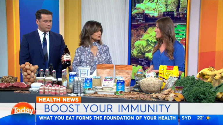 Lisa Wilkinson chatting about Remedy Kombucha on the Today Show
