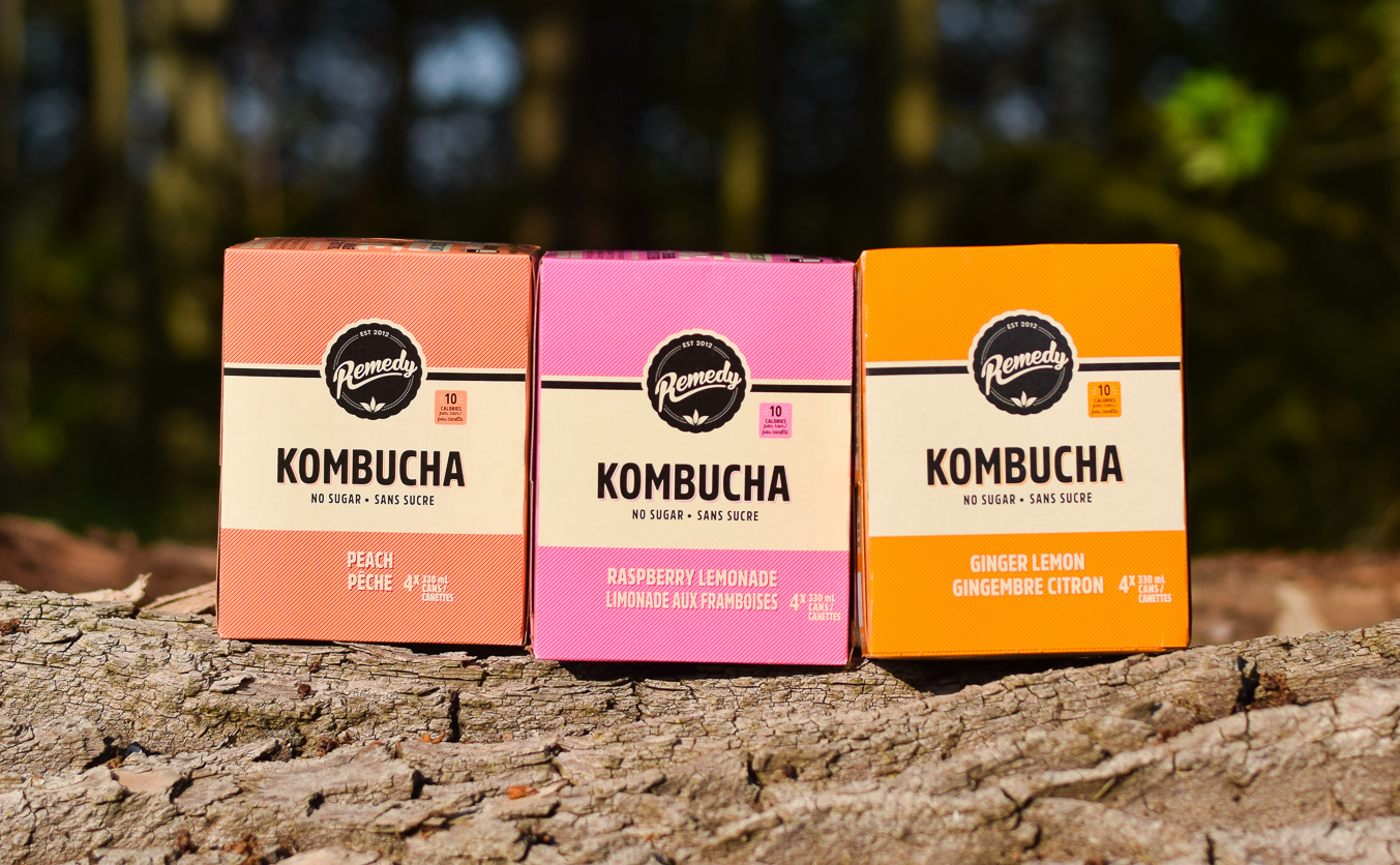 New Remedy Kombucha 4 Packs