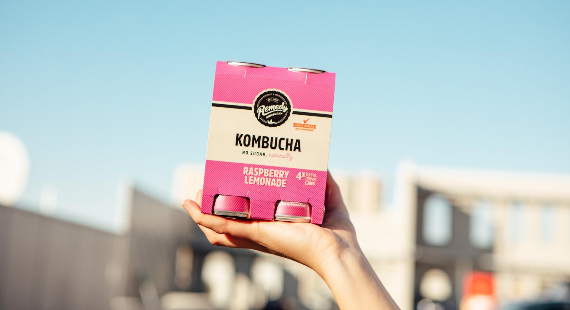 Low caffeine in Remedy Kombucha
