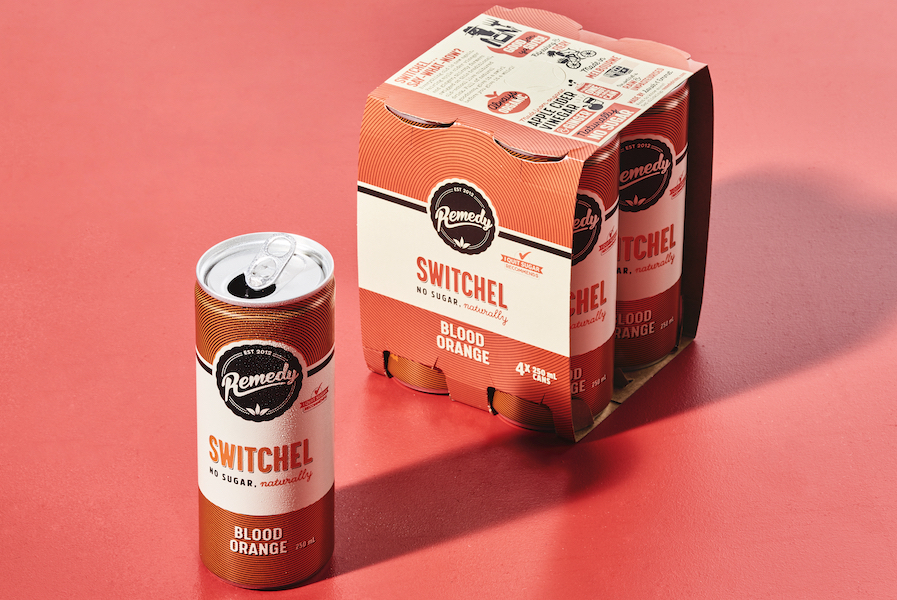 Remedy Blood Orange Switchel in cans